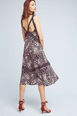 8a59fd0ead9a ANTHROPOLOGIE HOLDING HORSES NWT Patchwork Midi Printed Dress Sz S ...
