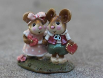 Wee Forest Folk -M-331 Young Love. Two mice in love. The perfect Valentine's Day