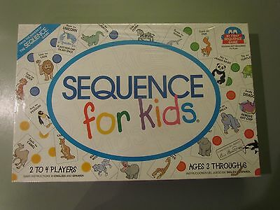 Sequence For Kids Board Game New Factory Sealed 2001