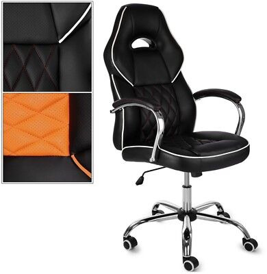 Office Desk Chair Racing Gaming PU Leather Adjustable Swivel Executive Computer
