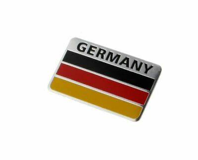 Car Truck Germany Flag Emblem Badge Decal Sticker Alloy Aluminum 5X8cm