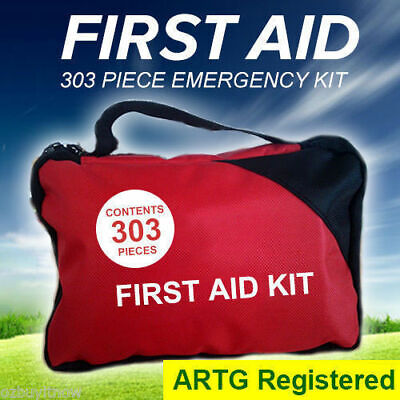 303 Piece Emergency First Aid Kit - A Must Have for Every Family ARTG Registered