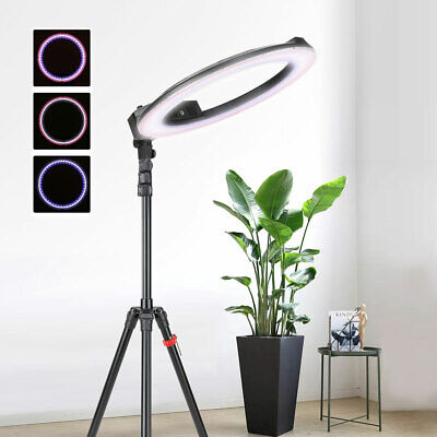 "18"" LED Photography Ring Light Dimmable 5500K Lighting with Stand for Camera"