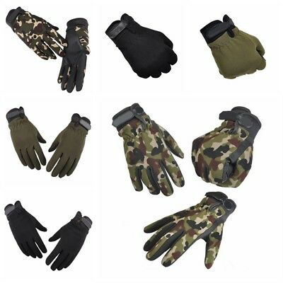Womens Mens Sports Bicycle Riding Full Finger Gloves Training Climbing Cycling