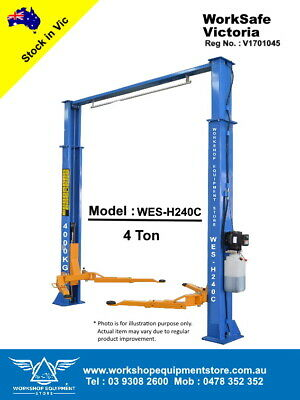 NEW 2 post, TS-H240C, 4 ton Hoist, Vehicle Lift, Car Lift, WorkSafe VIC Approved