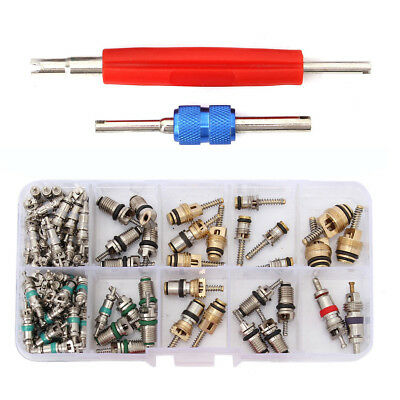 102pcs Car R12 & R134a A/C Air Conditioner Valve Core Remover Tool Kit For Honda