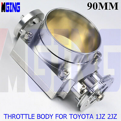 90mm 3.54'' Throttle Body  for Toyota Supra/Soarer Toyota 1JZ-GTE 2JZ-GTE SILVER