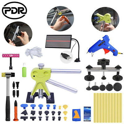 PDR Paintless Dent Repair Hail Removal Puller Lifter LED Line Board T Bar Hammer