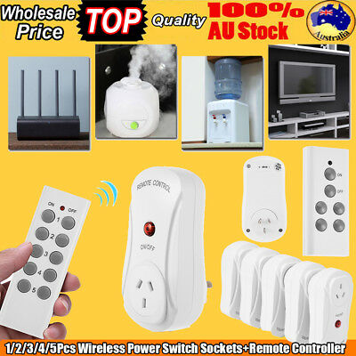 Wireless Smart Remote Control Socket Switch Home Mains AU Plug AC Power Outlet