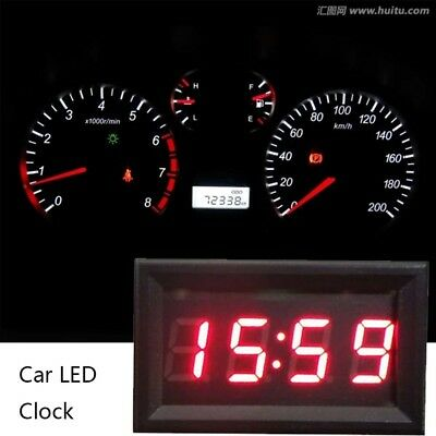 Car Scooter Motorcycle Accessory 12V/24V Dashboard LED Display Digital Clock...