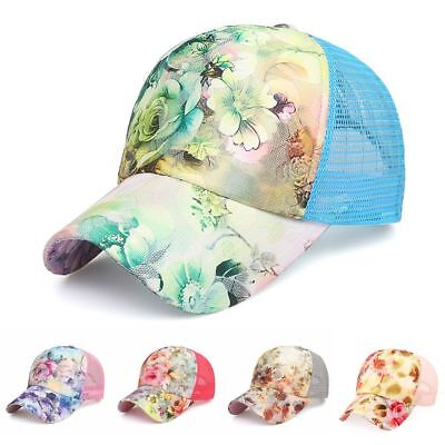 8218654abada6 Women Ponytail Baseball Cap Mesh Sun Hats Snapback Baseball Cap Sports Caps.
