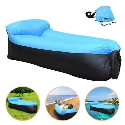 Convenient Inflatable Air Sofa Bed Lazy Sleeping Camping Bag Beach Hangout Couch