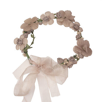 Women Wedding Party Flower Hair Garland Crown Headband Floral Wreath Hairband AU