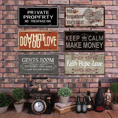 KEEP CALM Quote Retro Metal Tin Sign Poster Plaque Bar Pub Club Cafe Wall Decor