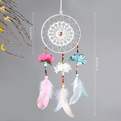 Handmade Craft Dream Catcher Wall Hanging Home Decoration Ornament Feather Gift