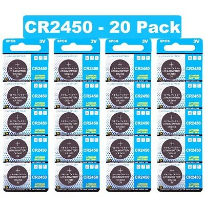 20 Pack Lot Batteries JOOBEF CR2450 Lithium 3V Watch Toy Coin Cell Battery NEW