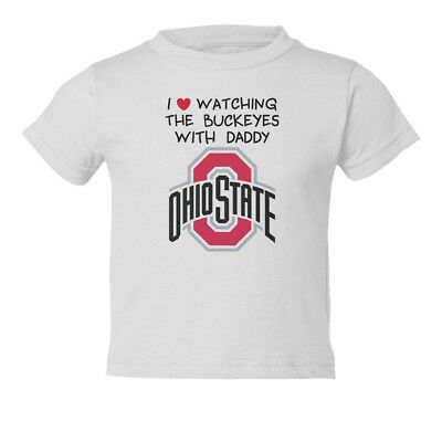 Ohio State Buckeyes Love Watching With Daddy Kids Toddler T-Shirt