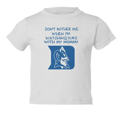 Duke Blue Devils Watching With Mommy Basketball Kids Toddler T-Shirt