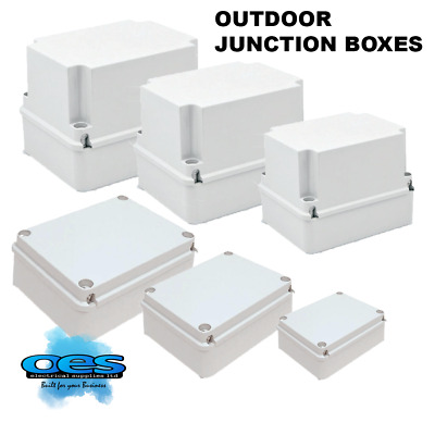 Outdoor Waterproof Pvc Adaptable Junction Box Ip55 Enclosure Indoor - All Sizes
