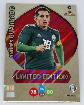 56afe3c63d9 Andres Guardado LIMITED EDITION FIFA World Cup Russia 2018 Adrenalyn XL  Panini