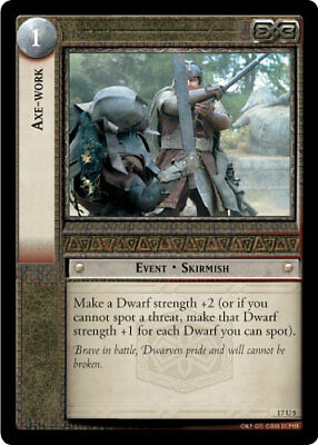 LOTR: Axe- Work [Ungraded] The Rise of Saruman Lord of the Rings TCG Decipher