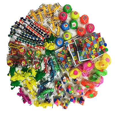 100 Job Lot Bundle Girls Boys Kids Party Bag Filler Lucky Dip Toy Prize Tombola