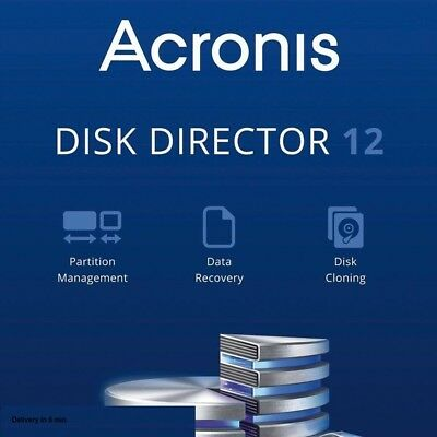 Acronis Disk Director 12 Partition Management + Activation key delivery in 5 Min