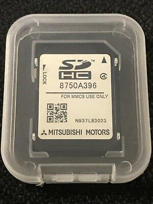 LATEST Mitsubishi MMCS SD CARD NAVIGATION SAT NAV MAP EUROPE 8750A396 2018-2019