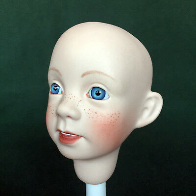 "Make Your Own Doll! Porcelain Head w/eyes for 14"" ""Smiley"" by Boots Tyner"