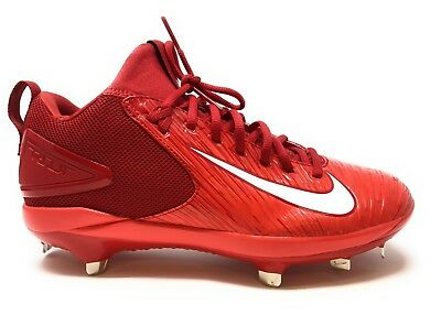 632a2606e75 New Nike Force Air Trout 3 Pro Mid Metal Mens Baseball Shoes Cleats - Red