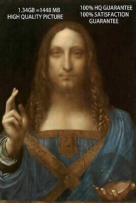 Salvator Mundi, Da Vinci,  Original Painting Print on Canvas, Giclee Print