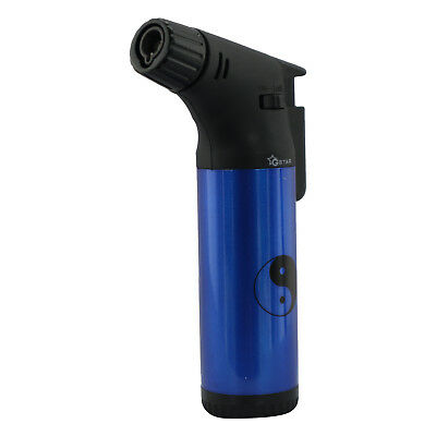 Gstar Ying Yang Single Jet Flame Butane Cigarette Cigar Torch Lighter – Blue