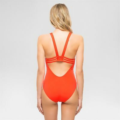 33457ff66ea44 Sunn Lab Swim Women's Riviera Red Strappy One Piece Swimsuit Large NWT