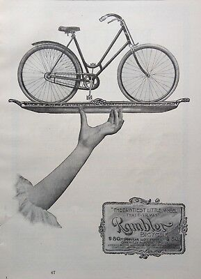 "1897 Ad (1800-20)~Gormully & Jeffery Mfg. Co. Chicago. The ""rambler"" Bicycle"