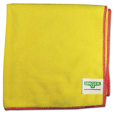 Unger SmartColor MicroWipes 4000 Heavy-Duty 16 x 15 Yellow/Red 10/Case MF40Y