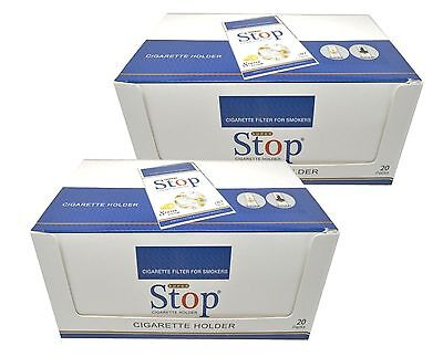 40 pack 8-hole Super Stop Cigarette Filters Cut the Tar Filter out Nic FREE S&H
