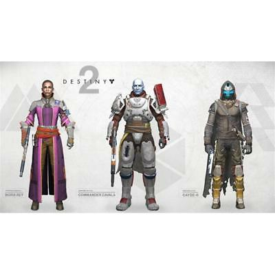 "Destiny 2 Full Set of 3 Mcfarlane 7"" Action Figures Cayde, Zavala and Ikora Rey"