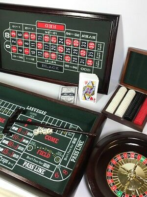 Excalibur 3-in-1 Casino House ~ Roulette ~ Craps ~Black Jack~Solid Wood Cabinet