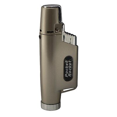 Pocket Rocket Single Jet Flame Butane Cigarette Cigar Torch Lighter – Beige