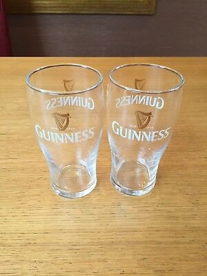 Guinness Pint Glasses, Brand new and never been used. Sold in sets of 2