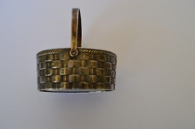 Vintage RAIMOND ITALY OBLONG Silver Plated Basket Woven Motifs Small & Cute