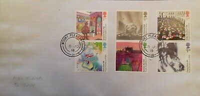 GB 2018 Commemorative Set of very fine used The Royal Academy of Arts Stamps