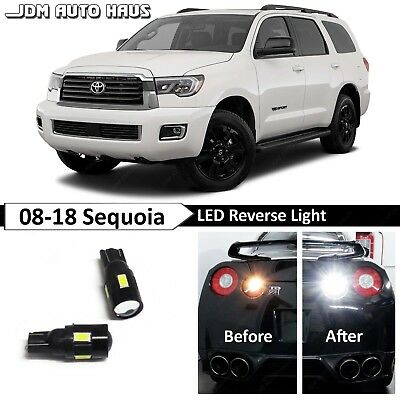 Fits 2008-2012 Toyota Sequoia Reverse White Interior LED Lights Package Kit 20x