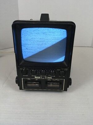 "Vintage Minivision 5 By Prosonic Portable 5"" Television CRT Black And White"
