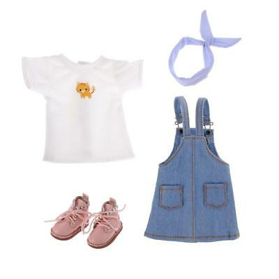 """Dress Shirt Hairband Shoes Suit for 12"""" Blythe Takara Pullip Dolls Clothes"""