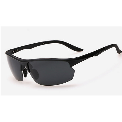 EureA  Black TR90 Polarized Sports Sunglasses