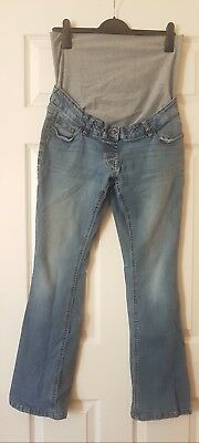 X2 Bundle NEXT Ladie's Blue Faded Maternity Bootcut Jeans Trousers Size UK 14R