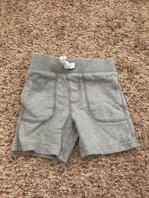 Carters Size 12 Months Boys Gray Drawstring Shorts