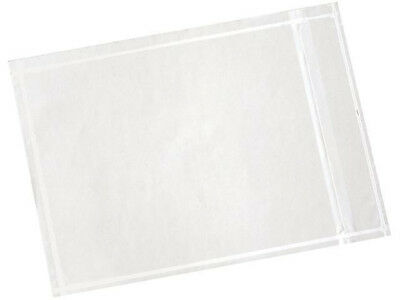 "* PACK OF 100 * 4.5"" x 6"" Clear Adhesive Packing List Envelopes, Invoice Slips"