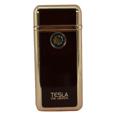 Tesla Coil USB Rechargeable Windproof Cigarette Dual Arc Lighter - Red